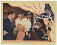 2f515 42nd STREET LC '33 Ginger Rogers confronts Warner Baxter with her lapdog behind her!