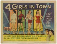 2f002 4 GIRLS IN TOWN TC '56 art of sexy Julie Adams, Marianne Cook, Elsa Martinelli & Gia Scala!