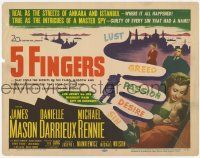 2f003 5 FINGERS TC '52 James Mason, Danielle Darrieux, true story of the most fabulous spy!