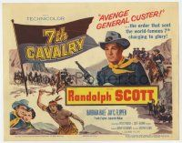 2f004 7th CAVALRY TC '56 Randolph Scott avenges General Custer & the massacre at Little Big Horn!