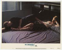 2f516 9 1/2 WEEKS LC #5 '86 great image of Mickey Rourke & sexy Kim Basinger laying on bed!