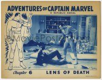 2f520 ADVENTURES OF CAPTAIN MARVEL chapter 6 LC '41 best Tom Tyler in costume by beaten bad guys!