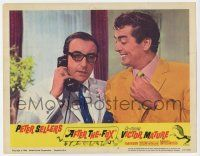 2f523 AFTER THE FOX LC #4 '66 c/u of Victor Mature smiling at Peter Sellers talking on phone!