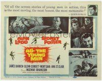 2f014 ALL THE YOUNG MEN TC '60 Alan Ladd & Sidney Poitier deal with race relations in Korean War