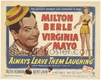 2f016 ALWAYS LEAVE THEM LAUGHING TC '49 nation's number one funnyman Milton Berle & Virginia Mayo!
