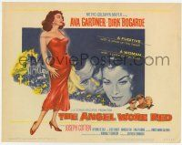 2f017 ANGEL WORE RED TC '60 sexy Ava Gardner, Joseph Cotten, Dirk Bogarde has a price on his head!