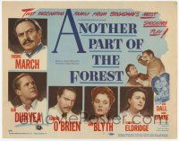 2f018 ANOTHER PART OF THE FOREST TC '48 Fredric March, Ann Blyth, from Lillian Hellman's play!