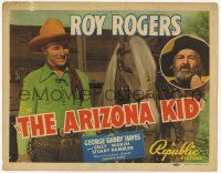 2f019 ARIZONA KID TC '39 great image of smiling Roy Rogers & Trigger + Gabby Hayes inset!