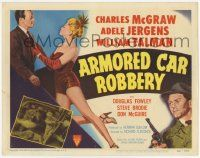 2f020 ARMORED CAR ROBBERY TC '50 art of Charles McGraw & super sexy showgirl Adele Jergens!