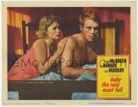 2f530 BABY THE RAIN MUST FALL LC '65 close up of Lee Remick & barechested Steve McQueen in bed!