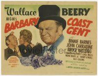 2f025 BARBARY COAST GENT TC '44 great images of con man Wallace Beery & Binnie Barnes!