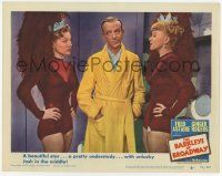 2f535 BARKLEYS OF BROADWAY LC #6 '49 Fred Astaire between Ginger Rogers & her pretty understudy!