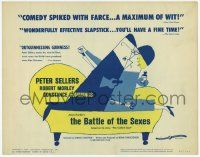 2f026 BATTLE OF THE SEXES TC '60 Peter Sellers, Charles Crichton English comedy, cartoon art!