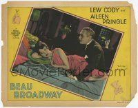 2f539 BEAU BROADWAY LC '28 Lew Cody wants to kiss & make up with beautiful Aileen Pringle on bed!