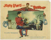 2f543 BELLBOY LC #7 '60 wacky close up of Jerry Lewis using clothing steamer!