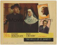 2f545 BELLS OF ST. MARY'S LC #8 R57 cool images of pretty nun Ingrid Bergman & Bing Crosby!