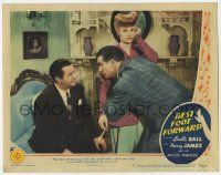 2f549 BEST FOOT FORWARD LC #7 '43 Lucille Ball looks unimpressed by William Gaxton & Chill Wills