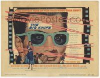2f035 BIG KNIFE TC '55 Robert Aldrich, great image of movie star Jack Palance in wacky glasses!