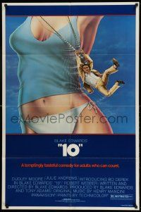 2g001 '10' 1sh '79 Blake Edwards, Alvin art of Dudley Moore, sexy Bo Derek, white border design!
