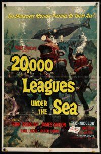 2g005 20,000 LEAGUES UNDER THE SEA style A 1sh R63 Jules Verne classic, art of deep sea divers!