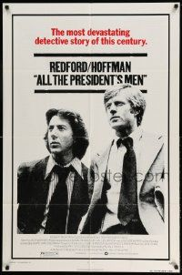 2g021 ALL THE PRESIDENT'S MEN 1sh '76 Dustin Hoffman & Robert Redford as Woodward & Bernstein!