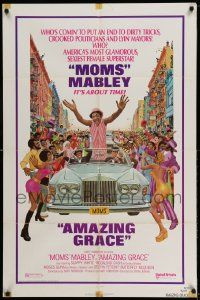 2g023 AMAZING GRACE 1sh '74 Mort Kunstler art of Moms Mabley!