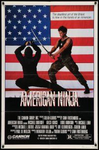 2g027 AMERICAN NINJA 1sh '85 Michael Dudikoff, martial arts action, super cheesy image!