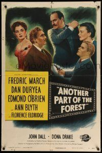 2g036 ANOTHER PART OF THE FOREST 1sh '48 Fredric March, Ann Blyth, from Lillian Hellman's play!