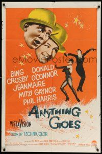 2g038 ANYTHING GOES 1sh '56 Bing Crosby, Donald O'Connor, Cole Porter!