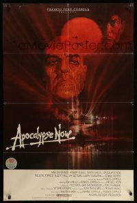 2g041 APOCALYPSE NOW int'l 1sh '79 Francis Ford Coppola, classic Bob Peak art of Brando and Sheen!