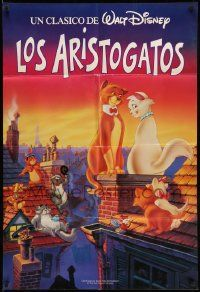 2g045 ARISTOCATS Spanish/U.S. export 1sh R90s Walt Disney feline jazz musical cartoon, Los Aristogatos!