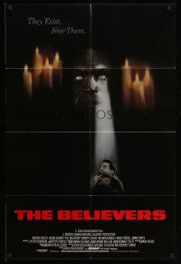 2g068 BELIEVERS int'l 1sh '87 Martin Sheen, Robert Loggia, nothing can stop them, different art!