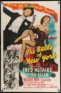 2g070 BELLE OF NEW YORK 1sh '52 great image of Fred Astaire & sexy Vera-Ellen dancing!