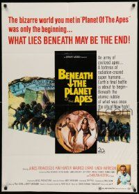2g072 BENEATH THE PLANET OF THE APES 1sh '70 sci-fi sequel, what lies beneath may be the end!