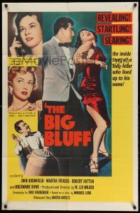 2g079 BIG BLUFF 1sh '55 cruel, cunning, charming, he used every trick on every girl!