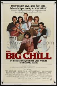 2g080 BIG CHILL int'l 1sh '83 Lawrence Kasdan, Tom Berenger, Glenn Close, Jeff Goldblum!