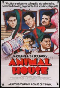 2g033 ANIMAL HOUSE English 1sh '78 John Belushi, Landis classic, wacky portraits of top cast!
