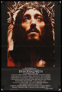 2g443 JESUS OF NAZARETH English 1sh '77 Franco Zeffirelli, Robert Powell in crown of thorns!
