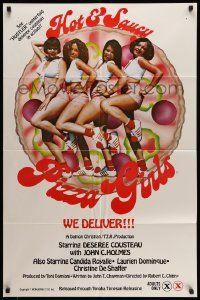 2g411 HOT & SAUCY PIZZA GIRLS 1sh '78 sexy Hustler centerfold Deseree Cousteau, John Holmes!