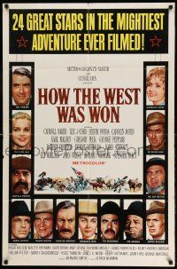 2g418 HOW THE WEST WAS WON 1sh '64 John Ford epic, Debbie Reynolds, Gregory Peck & all-star cast!