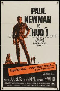 2g421 HUD 1sh '63 Paul Newman is the man with the barbed wire soul, Martin Ritt classic!