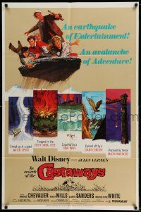 2g430 IN SEARCH OF THE CASTAWAYS 1sh R70 Jules Verne, Hayley Mills in an avalanche of adventure!