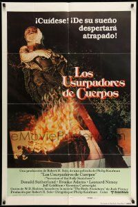 2g437 INVASION OF THE BODY SNATCHERS Spanish/U.S. style A export int'l 1sh '78 different image!