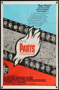 2g438 IS PARIS BURNING 1sh '66 Rene Clement's Paris brule-t-il, World War II all-star cast!