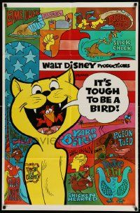2g439 IT'S TOUGH TO BE A BIRD 1sh '70 rare Disney cartoon, great wacky bird images!