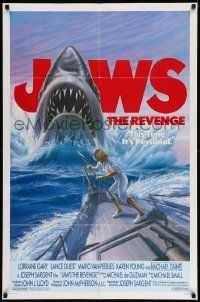 2g442 JAWS: THE REVENGE 1sh '87 man's deepest fear has risen again!