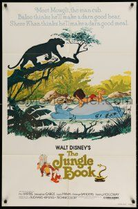 2g448 JUNGLE BOOK 1sh R78 Walt Disney cartoon classic, great image of all characters!