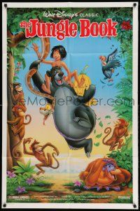 2g450 JUNGLE BOOK DS 1sh R90 Walt Disney cartoon classic, great image of Mowgli & friends!
