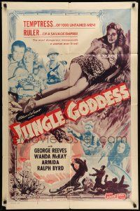 2g452 JUNGLE GODDESS 1sh R50s George Reeves, Wanda McKay, Armida, Ralph Byrd