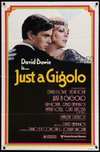 2g453 JUST A GIGOLO 1sh '81 David Hemmings' Schoner Gigolo, armer Gigolo, David Bowie!